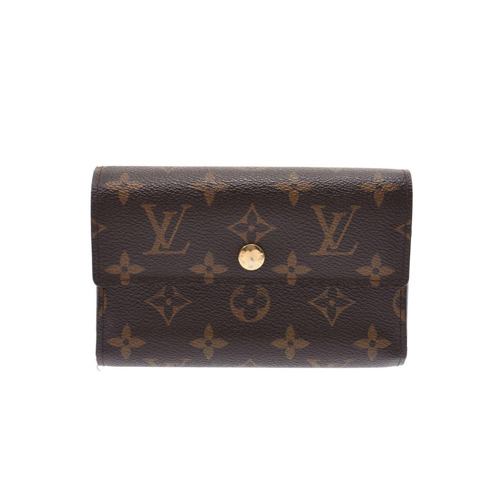release date 9600c 849c9 Louis Vuitton Monogram Porto Foyu Alexandra Brown M60047 Men's Women's  Genuine Leather Wallet AB Rank LOUIS VUITTON Used Ginza | elady.com