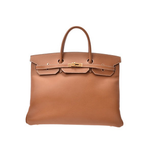 Hermes Birkin 40 Gold G Hardware □ H Engraved Ladies Mens Ardennes Handbag A Rank HERMES Used Ginza
