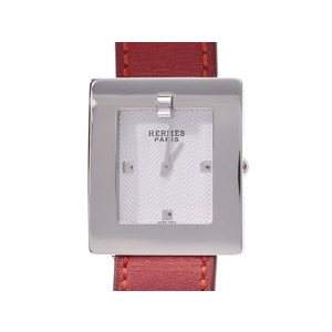 Hermes belt watch white dial BE1.210 Women's SS / leather quartz wristwatch AB rank HERMES secondhand silver storage