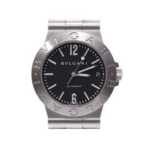 ブルガリ ディアゴノ スポーツ LCV35S 黒文字盤 メンズ SS 自動巻 腕時計 Aランク 美品 BVLGARI 箱 ギャラ 中古 銀蔵