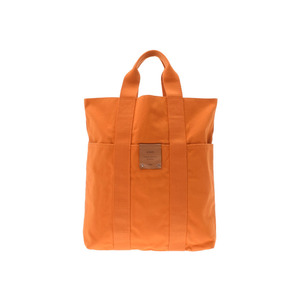Hermes Furtou Cubus French Festival Limited Orange Ladies Men's Canvas Tote Bag AB Rank HERMES Used Ginza