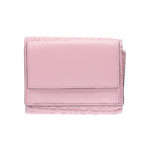 Loewe Anagram compact wallet pink ladies calf unused LOEWE secondhand silver storage