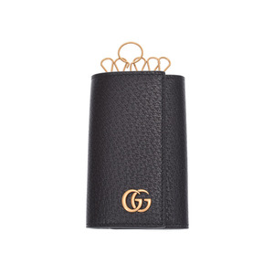 1a4f1aef2e7b Gucci GG Mermont six consecutive key case black G fittings men's ladies  leather new same beautiful