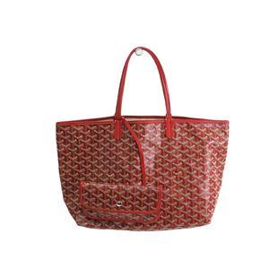 GOYARD Saint Louis PM Tote Bag Canvas/Leather Red