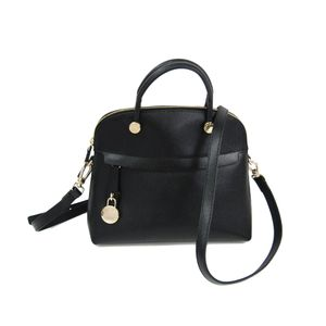 FURLA Piper S Hand bag Leather Black