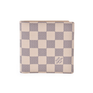 Louis Vuitton Azur Portofoil Marco White N60018 Ladies' Wallet New Shimmy LOUIS VUITTON Used Ginza