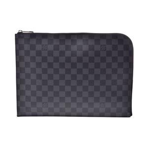 ルイ・ヴィトン(Louis Vuitton) ルイヴィトン グラフィット ポシェットジュールGM NM 黒 N41501 メンズ 本革 クラッチバッグ Aランク 美品 LOUIS VUITTON 中古 銀蔵