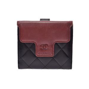 Chanel Coco Cocoon W Hoc Wallet Black / England Ladies Lambskin B Rank CHANEL Box Gala Used Ginza