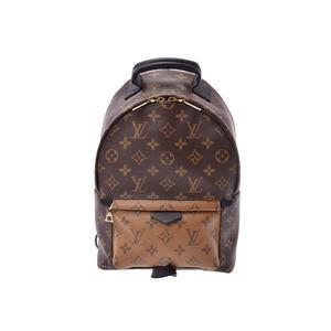 ルイ・ヴィトン(Louis Vuitton) ルイヴィトン モノグラムリバース パームスプリング PM ブラウン/黒 G金具 M43116 メンズ レディース 本革 未使用 美品 LOUIS VUITTON 中古 銀蔵