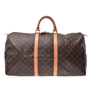 ルイ・ヴィトン(Louis Vuitton) ルイヴィトン モノグラム キーポル55 ブラウン M41424 メンズ レディース 本革 ボストンバッグ ABランク LOUIS VUITTON 中古 銀蔵
