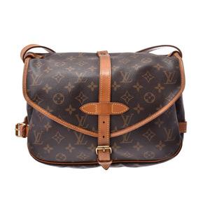 ルイ・ヴィトン(Louis Vuitton) ルイヴィトン モノグラム ソミュール30 ブラウン M42256 メンズ レディース 本革 ショルダーバッグ Bランク LOUIS VUITTON 中古 銀蔵