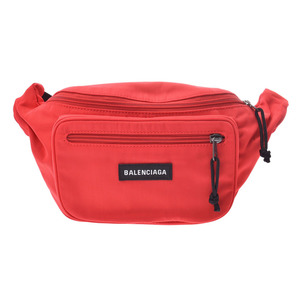 Balenciaga Explorer Belt Bag Rouge Men's Women's Nylon Body New and the same Beauty Item BALENCIAGA Used Ginza