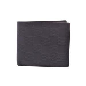 ルイ・ヴィトン(Louis Vuitton) ルイヴィトン アンフィニ ポルトフォイユ マルコNM 黒 N63334 メンズ 二ツ折財布 ABランク LOUIS VUITTON 中古 銀蔵