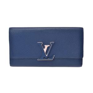 Louis Vuitton Porto Foyu Capsine Blue Marine M41970 Women's Wallet B rank LOUIS VUITTON second hand silver storage