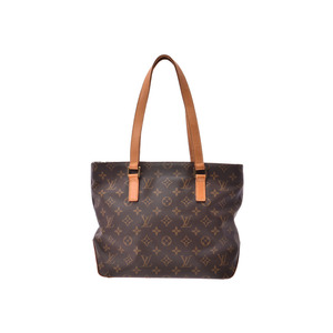 Louis Vuitton Monogram Kababiano Brown M51148 Ladies Leather Tote Bag Rank B LOUIS VUITTON Used Ginza