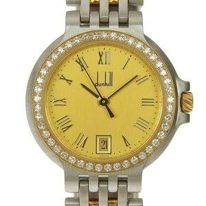 Genuine dunhill Elite Diamond Bezel Ladies Quartz Wrist Watch 2 Row