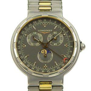 Real LONGINES Longines Conquest Titanium Triple Calendar Boys Quartz Wrist Watch