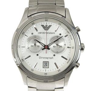 Real ARMANI Armani Chronograph Men's Quartz Wrist Watch Silver Dial AR-0534