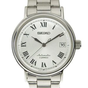 Authentic SEIKO Seiko men's automatic watch silver dial 6R15-00V0