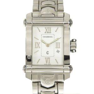 Genuine CHARRIOL Chariol Columbus mens quartz wrist watch white dial CCSTRH 8