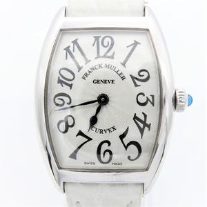 Franck Muller Cintree Curvex Quartz White Gold (18K) Women's Luxury Watch 1752QZ