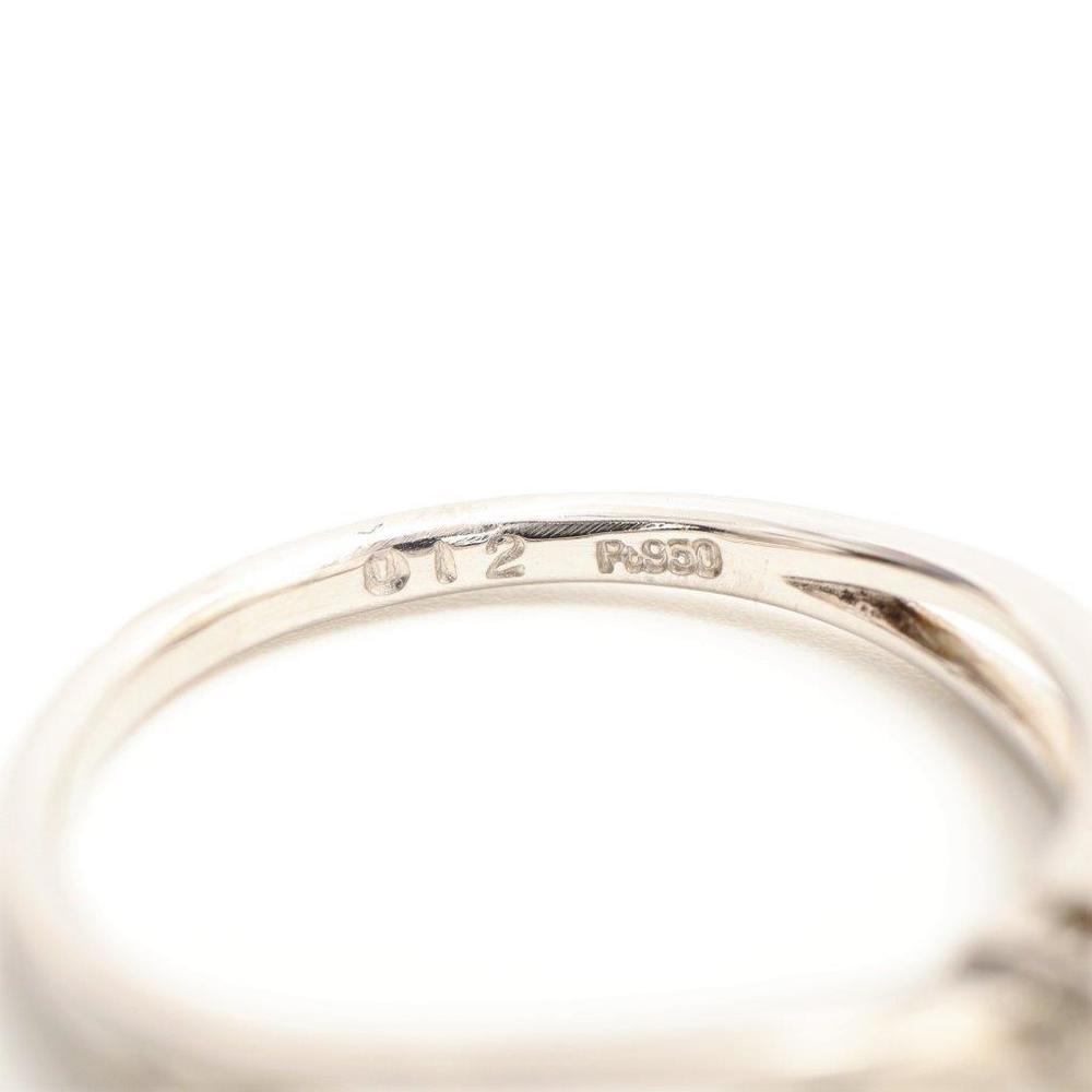 エル(Elle) Pt950(プラチナ) ダイヤモンド エンゲージリング カラット/0.12 プラチナ