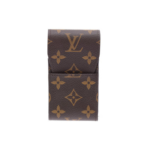 Louis Vuitton Monogram Cigarette Case Brown M63024 Men's Women's Genuine Leather A Rank Mintage LOUIS VUITTON Used Ginza