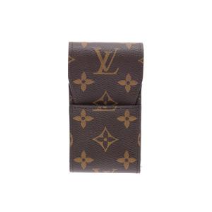 ルイ・ヴィトン(Louis Vuitton) ルイヴィトン モノグラム シガレットケース ブラウン M63024 メンズ レディース 本革 タバコケース Aランク 美品 LOUIS VUITTON 中古 銀蔵