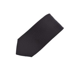 Hermes necktie H pattern black men's silk 100% new article 美 品 HERMES 銀