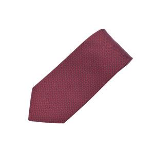HERMES Necktie H Puzzle Red / Navy Mens Silk 100% New GIN