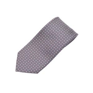HERMES Tie Gray / Pink Men's Silk 100% Brand New Ginza
