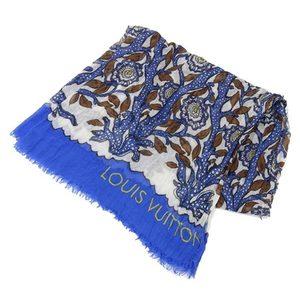 Genuine LOUIS VUITTON Louis Vuitton Shawl Blue