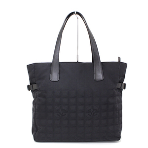 CHANEL New Travel Line Tote GM Nylon Leather Black A15825 Serial Seal Available Shoulder Bag