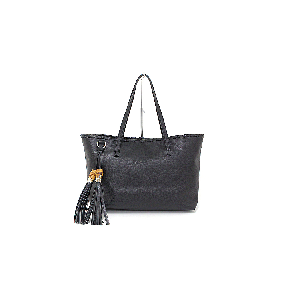 c2285cea2 Gucci GUCCI Bamboo Tassel Leather Tote Bag grain leather black 354665 new  as well