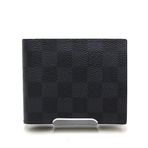 LOUIS VUITTON Louis Vuitton Damier Cobalt Porto Fouille Mark Two-fold wallet N63351 Like new