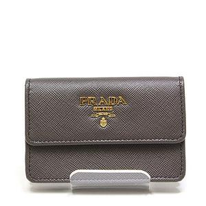 PRADA Prada card case 1M0881 Safiano leather GRAFITE (brown)