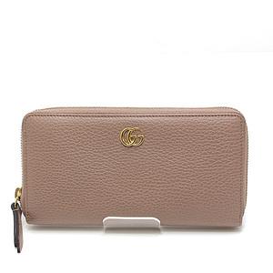 GUCCI Gucci round zipper long wallet 456117 beige pink similar new