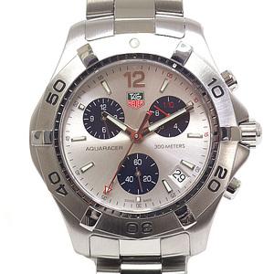 TAG HEUER Heuer Mens Watch Aqua Racer Chronograph CAF1111.BA0803 Silver Dial Quartz