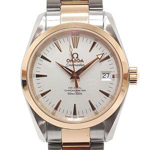 OMEGA Omega Boys Watch Seamaster Aqua Terra Coaxial 2304.30 Silver Dial SS × PG