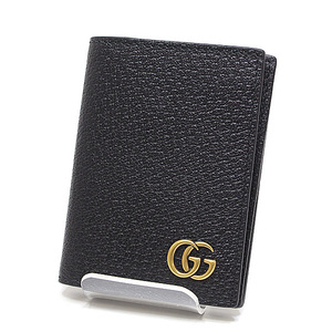 GUCCI Gucci GG Marmont Card Case 428737 Black Leather Like New