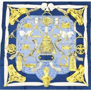 Hermes Eileen ETRIERS Women's Silk Scarf Navy