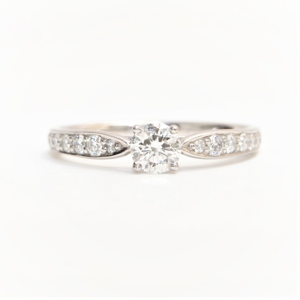 3267ae2b5af Tiffany Harmony Beads Setting Platinum 950 Engagement   Wedding Diamond  Engagement Ring Carat 0.24 Platinum