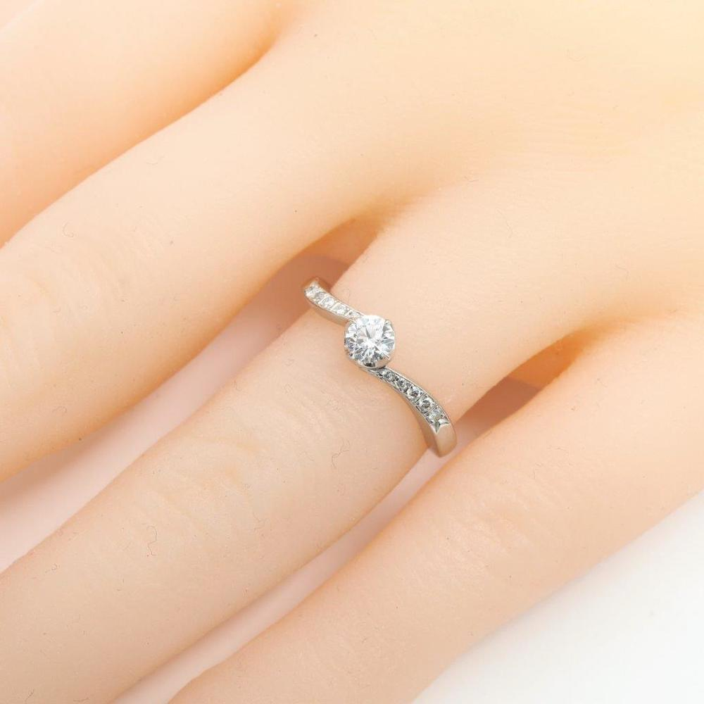 ヨンドシィ(4°C) アクアニティ Pt950(プラチナ) 婚約&結婚式用 ダイヤモンド エンゲージリング カラット/0.226 プラチナ