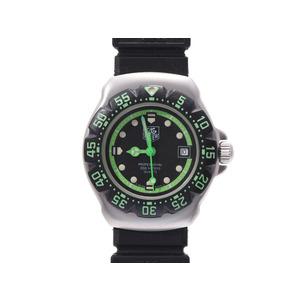 タグホイヤー プロフェッショナル200m WA1415 黒文字盤 レディース SS ラバー クオーツ 腕時計 ABランク TAG Heuer 中古 銀蔵