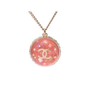 シャネル(Chanel) シャネル ロゴネックレス ドーム 09年モデル ピンク系 GP金具 レディース ラインストーン Aランク CHANEL 中古 銀蔵