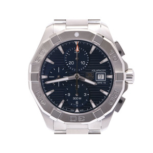 Tag Heuer Aqua Racer Chrono Blue Dial CAY2112 Mens SS Automatic Watch Wrist New Dope Beauty Product TAG Box Gallery Used Ginzo