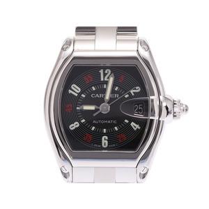 カルティエ ロードスターLM 黒文字盤 W62002V3 メンズ SS 自動巻 腕時計 Aランク 美品 CARTIER 中古 銀蔵