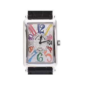Frank Muller Long Island color dream 1002QZ Men's SS / leather quartz watch A rank beauty item FRANCK MULLER box Gallery Used Ginzo
