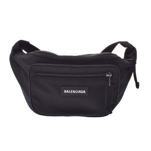Balenciaga Explorer Belt Bag Black Men's Women's Nylon Body A rank good item BALENCIAGA used Ginzo