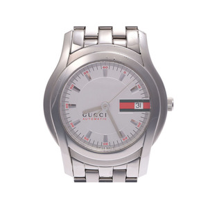 Gucci 5500 Silver Dial Men's Ladies SS Self-winding Watch AB Rank GUCCI Box Gala Used Ginzo